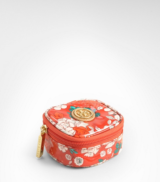 Printed Coated Poplin Tiny Jewelry Case