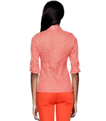 Poppy Red Denley  Tory Burch Brigitte Blouse