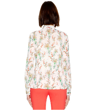 Tory Burch Bryce Bow Blouse