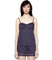 Tory Navy Heart Pindot  Tory Burch Deanna Pj Set