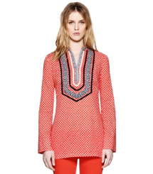 Poppy Red Denley  Tory Burch Talli Tunic