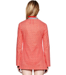 Poppy Red Denley  Tory Burch Talli Tunika