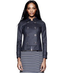 Med Navy Tory Burch Trent Rain Jacket