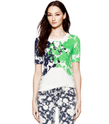 Ivory Abbott Ink Blot Tee Tory Burch Ryanna T-shirt