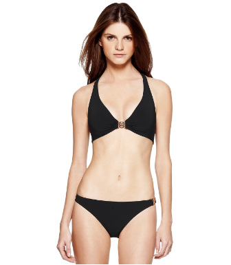 Black Tory Burch Logo Halter