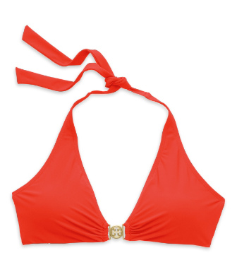 Poppy Red Tory Burch Logo Halter