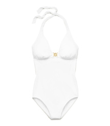 Ivory Tory Burch Logo One-piece