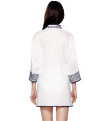 White/tory Navy Tory Burch Pearl Tunic