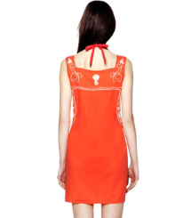 Poppy Red/ivory Tory Burch Amira Dress