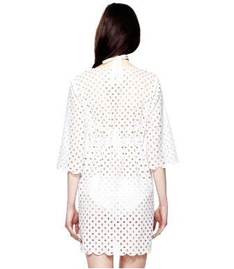White Tory Burch Luna Tunic