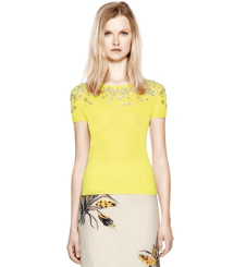 Lemon Chartreuse Tory Burch Marygrace Sweater