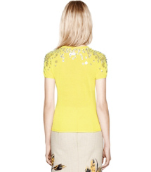 Lemon Chartreuse Tory Burch Marygrace Sweatshirt