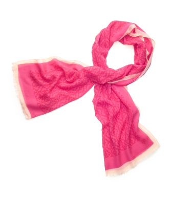 "Tory Burch Allover ""t"" Printed Scarf"