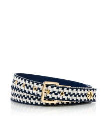 Tory Burch Rotating Buckle Woven Belt