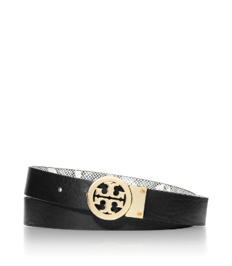 Tory Burch Rotating Logo Exotic Belt