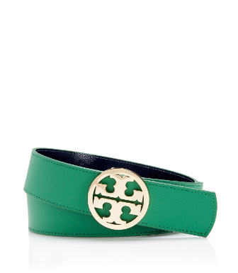 "Tory Burch 1.5"" Tory Reversible Logo Belt"