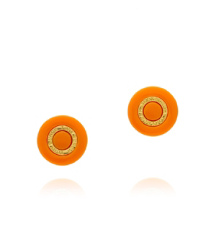 Fire Orange/shiny Gold Tory Burch Burch Stud Earring