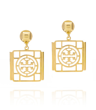 Tory Burch Caleb Logo Drop Earring