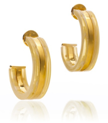 Horn/shiny Gold Tory Burch Wyatt Large Hoop Earring