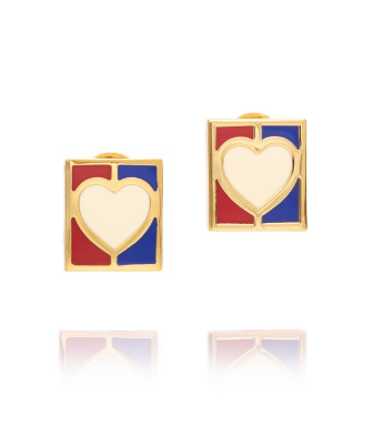 Tory Burch Ahoy Heart Flag Post Earring
