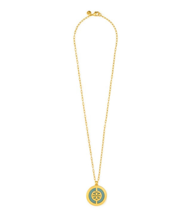 DECO LOGO PENDANT NECKLACE
