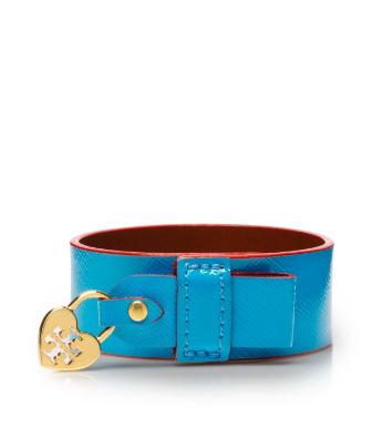 Tahitian Turq/poppy Red Tory Burch Alden Cuff