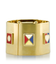 Tory Burch Ahoy Flag Stretch Bracelet