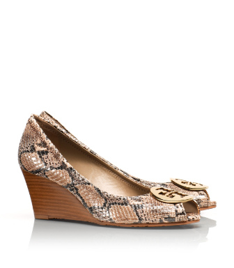 Tory Burch Sally 2 Snake Print Mid Wedge