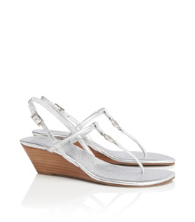 Tory Burch Metallic Emmy Demi Wedge
