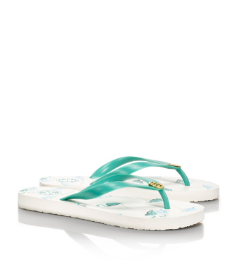 Viridian Green-flamingo Tory Burch Printed Flip Flop