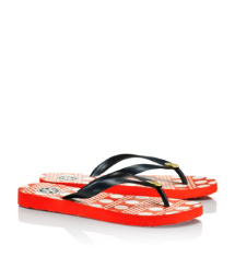 Normandy Blue-darby C Tory Burch Printed Flip Flop