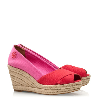 Tory Burch Color-blocked Filipa Espadrille Wedge