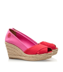 Color-blocked Filipa Espadrille Wedge