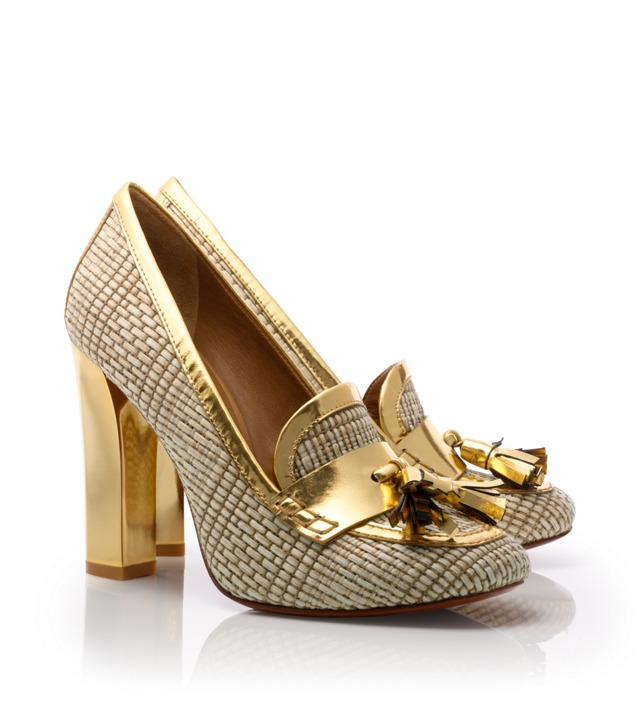 Metallic Careen Loafer Pump