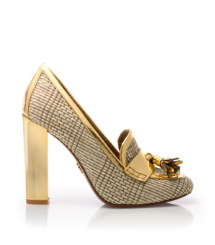 Tory Burch Metallic Careen Loafer Pump