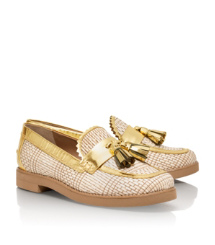 Tory Burch Metallic Careen Loafer