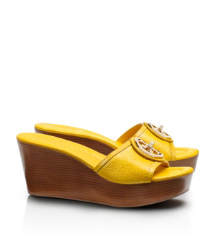 Tory Yellow Tory Burch Selma Mid Wedge Slide