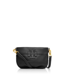 "Stacked ""T"" Leather Small Crossbody"