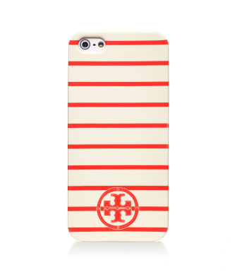 "Tory Burch Stacked ""t"" Tromp Logo Hardshell Case For Iphone 5"