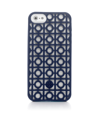 Tory Navy Tory Burch Kelsey Perforated Phone Case For Iphone 5