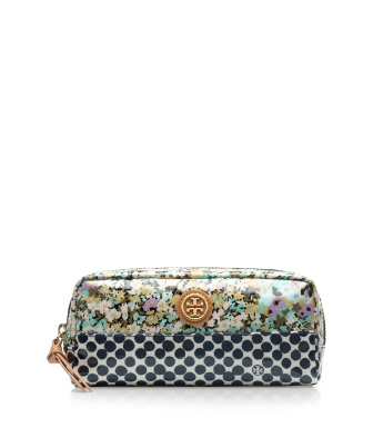 Tory Burch Mix Print Cosmetic Case