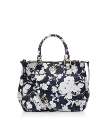 Small Printed Robinson Double Zip Tote