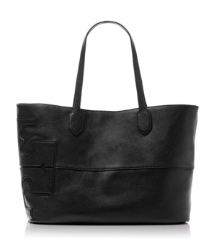 "Leather Stacked ""T"" Tote"