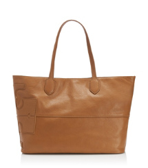 "Tory Burch Leather Stacked ""t"" Tote"
