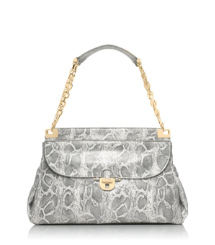 Lizard Printed Simon Top Handle Satchel
