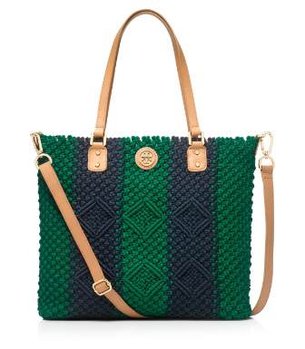 Tory Burch Crochet Zip Tote