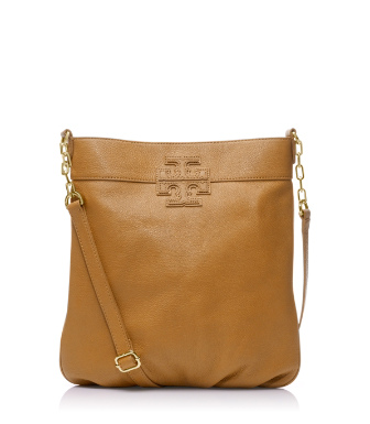 "Tory Burch Stacked ""t"" Leather Book Bag"