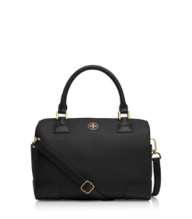 Black Tory Burch Robinson Middy Satchel