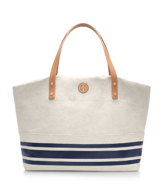 Parisian Blue Stripe (combo B) Tory Burch Theresa Tote