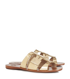 "Tory Burch Anchor ""t"" Flat Slide"